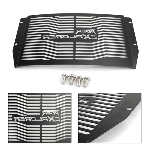 Stainless Steel Radiator Grill Guard For Triumph Tiger 1200 Explorer XC XCA XCX XR XRT XRX 12-19 Black