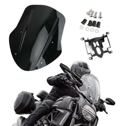 ABS Plastic Windshield Windscreen For Ducati Diavel Carbon 14-18 Diavel Dark 14-16 Diavel Titanium 15-17