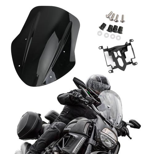 ABS Plastic Windshield Windscreen For Ducati Diavel Carbon 14-18 Diavel Dark 14-16 Diavel Titanium 15-17
