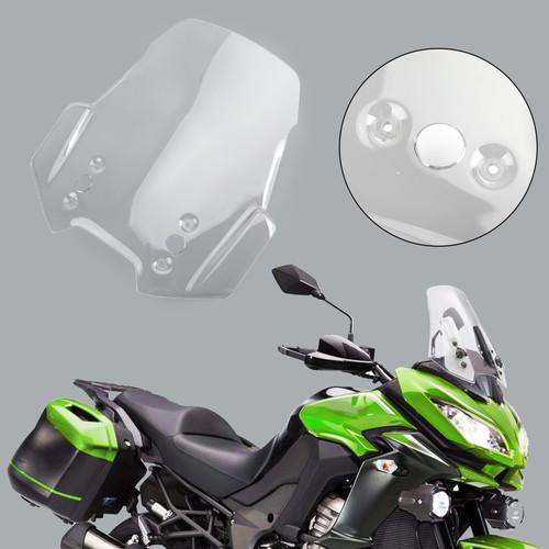 Windscreen Windshield For Kawasaki Versys 1000 KLZ 1000 model 15-18 Versys 650 KLE 650 model 15-19 Clear
