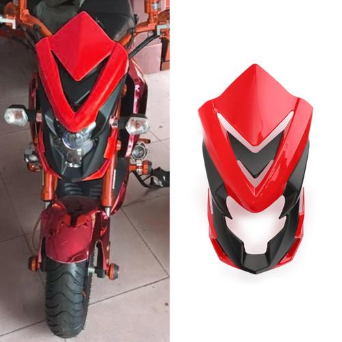 ABS Windshield Headlight Cover Fairing For Honda MSX125SF 16-17 MSX125 13-16 Red