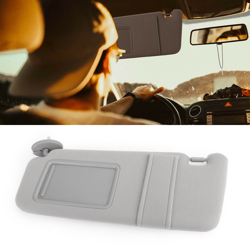 Left Sun Visor GRAY Driver Side Fit For Venza Toyota 2009-2016 With Light