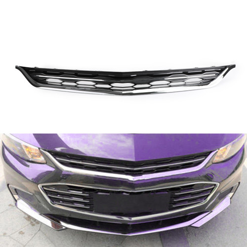 Bumper Upper & Lower Grille Grills Honeycomb For Chevy Malibu 2016-2017
