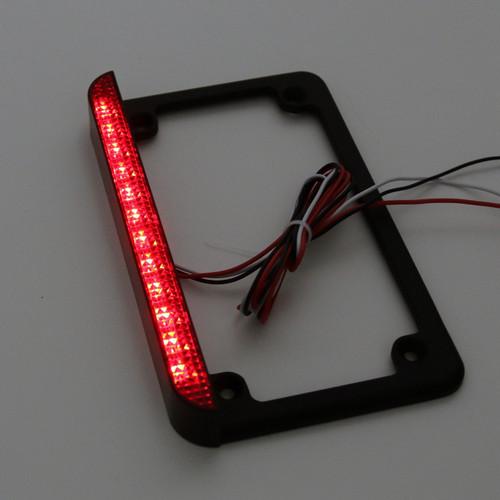 6 Led License Plate Frame With Led Tail Brake Light Universal