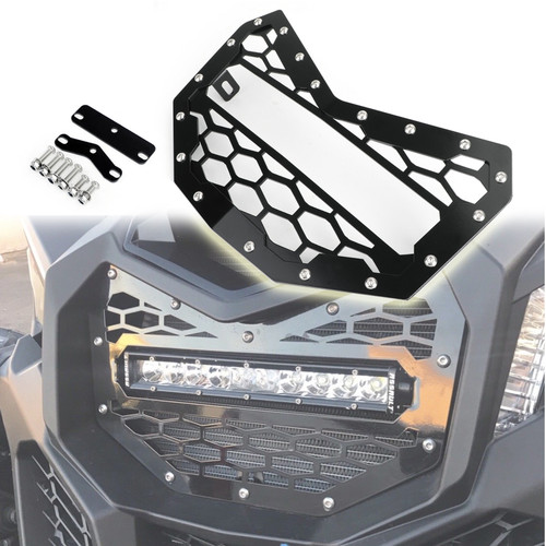 "LED Light Bar Grille 10.5"" Light Bar Grill For Can Am Maverrick X3 Models 16-19 Black"