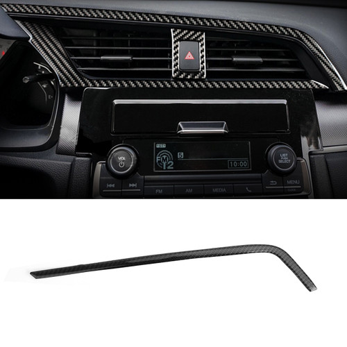 Fiber Center Air Vent Outlet Cover Trim For Honda Civic 10th 16-19 Carbon