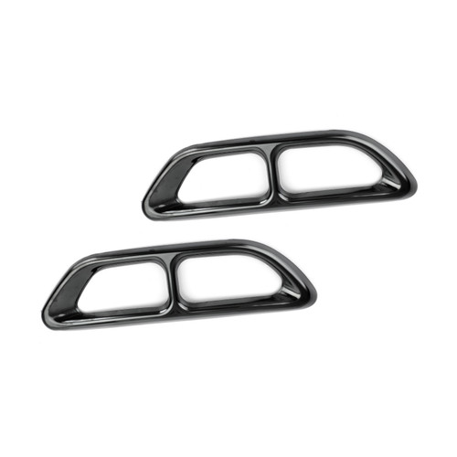 Steel Rear Cylinder Exhaust Pipe Cover For Honda Accord 18-19 Black