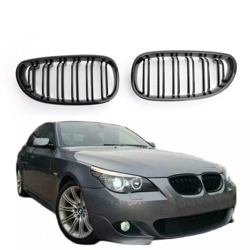 Front Hood Kidney Grille Glossy For BMW E60 E61 M5 520i 530i 04-09 Glossy Black