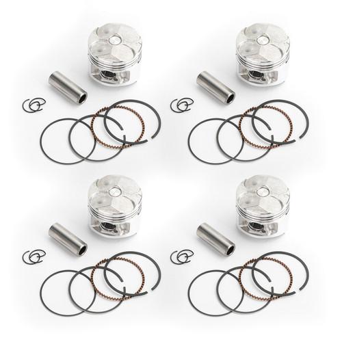 4PCS Piston Rings Pin Kit 48.50mm +0.25 For Yamaha FZR250 Genesis 87-88