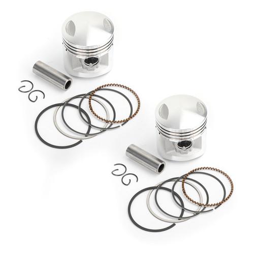 Piston Rings Pin Clips Kit +0.25 150cc For Honda CA125 Rebel 95-99 CM125 82-99 Honda CD125T CB125T CBT125 82-84 1988 1990 1993