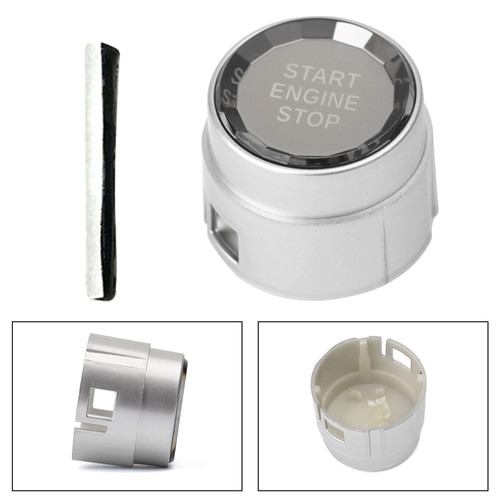 Start Stop Engine Push Button Switch Cover Crystal For BMW 1 Series F20 F21 12-16 Silver