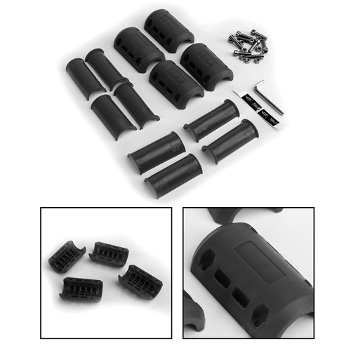 Engine Crash Bar Protector Bumper Guard 22-28mm For Suzuki V-Strom DL 650 1000 GSR600 GSF600 GSX 750 VL1500 Black