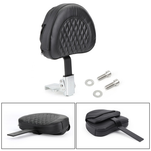 Driver Backrest For Harley 10-19 models such as Dyna Sportster Touring Softail Victory High Ball 10-19 Black