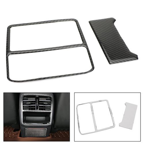 Rear Armrest Box Air Vent Outlet Frame Trim For VW Arteon 2019 Carbon