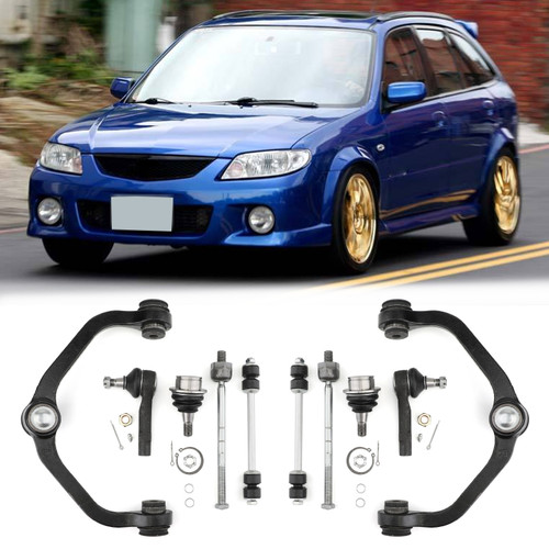 2WD 10pc Front Control Arm Ball Joints Inner Outer Tie Rods For Ford Ranger 98-11 Mazda B2300 01-03 Mazda B2500 98-01 Mazda B3000 98-04 Mazda B4000 98-03
