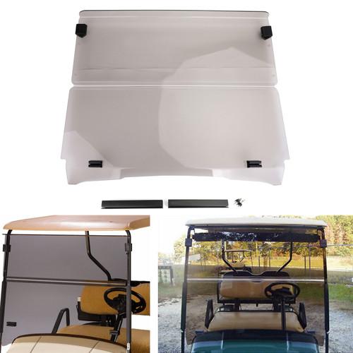Folding Golf Cart Acrylic Windshield Windscreen For EZGO TXT 94-13 Smoke