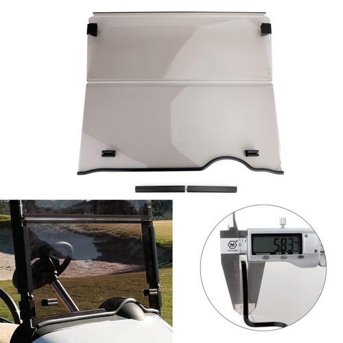 Folding Golf Cart Smoke Windshield Windscreen For EZGO RXV MODELS 08-19 Smoke