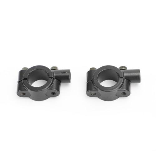"7/8"" HandleBar Mirror Mount Holder Clamp Adaptor 8mm M8 CW Universal Black"