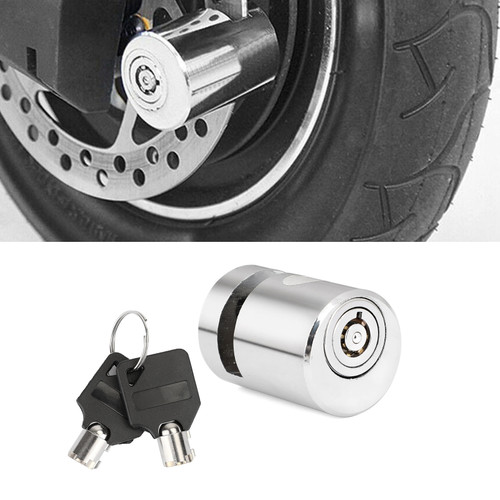 Anti-theft SECURITY LOCK Wheel Disc Brake Lock For most of motorcycle and bicycle silver