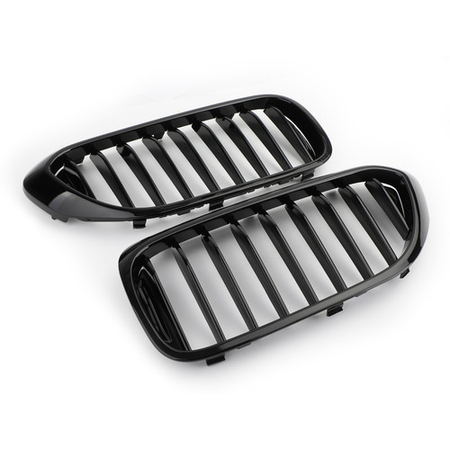 Front Grille Grill Kidney for BMW 5 Series 530i 540i G30 17-19 GBlack