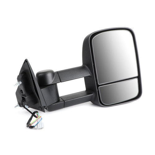 Pair Extendable Towing Mirrors For Ford Ranger 2012-On W/ Indicators Black