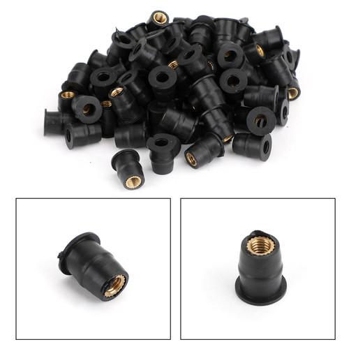 100 Quantity - M5 Rubber Well Nut Windscreen & Fairing 10mm 3/8 Wellnuts