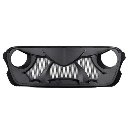 Front Bumper ABS Grille Replacement For Wrangler JL 18-19 Black