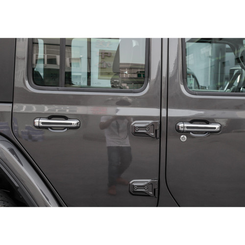 Door handle Cover Trim Decoration Exterior For Wrangler JL 2018+ Silver