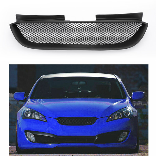 Front Hood Mesh Grille Bumper Grill for Hyundai Genesis Coupe 2010-2012 Black