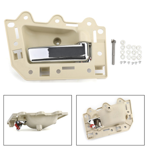 Front Inside Beige & Chrome Door Handle Kit Right For Grand Cherokee 05-10 Right