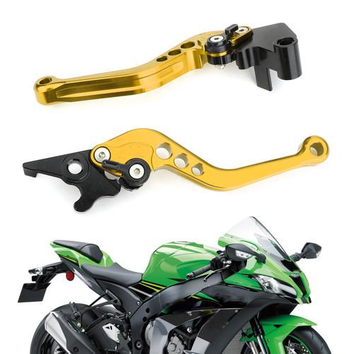 Left & Right Brake Clutch Levers For Kawasaki Ninja 250 300 Gold
