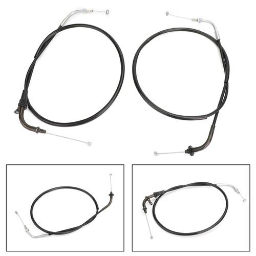Throttle Cable Wires For Yamaha XVS400 DS400 V-star 96-12 XVS650 V-star 98-15 Black