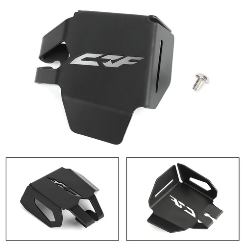 Rear Brake Fluid Reservoir Guard Cover for HONDA CRF1000L Africa Twin 2018-2019 Black