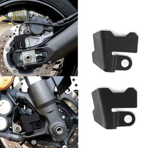 Front + Rear ABS Sensor Guard Cover for Yamaha Tracer 900 Tracer 900GT FJ-09 15-20 Black