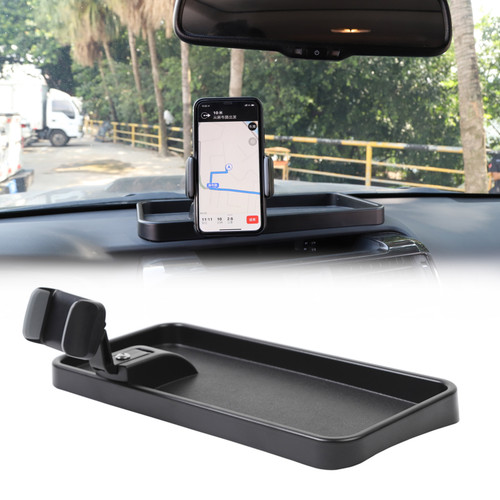 360 Degree Phone Cellphone Holder Mount Storage Box For Toyota 4Runner 2010+ Black