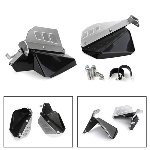 Feet Fender Cover Mudguards Feet Protection For BMW R1200GS LC 13-18 LC ADV 14-18 Black