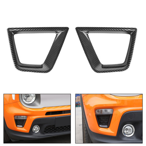 Front Turn Signal Light Frame Decor Cover 2PCS for Jeep Renegade 19+ Carbon
