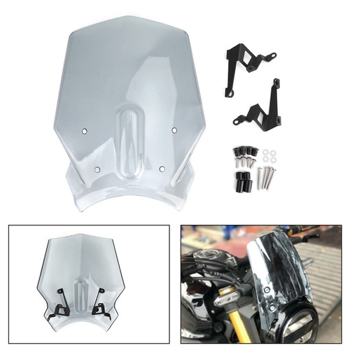 ABS Plastic Windshield Windscreen for Honda CB125R CB300R 2018-2019 Gray