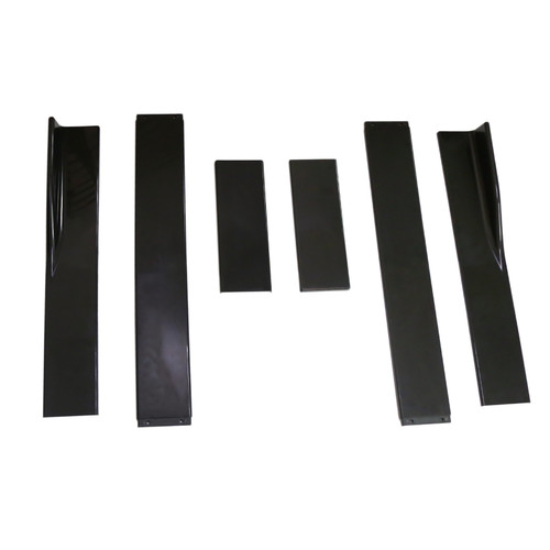 "86.6"" Universal Side Skirt Extensions Rocker Panel Splitters Lip Polypropylene Gblack"