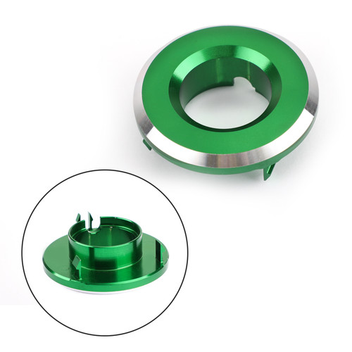 CNC Ignition Switch Cap Keyhole Cover for Kawasaki Vulcan S 650 2015-2019 Green