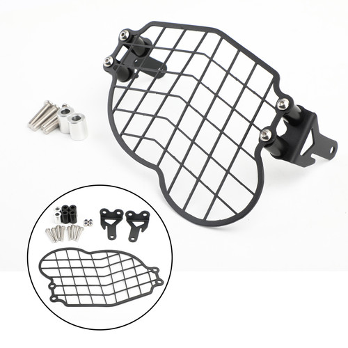 2mm Steel Headlight Guard Grill Cover for BMW G650GS Sertao 2011-2017 Black