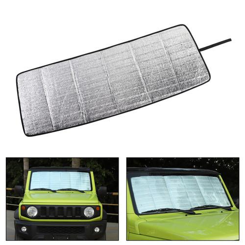 Front Windshield Sunshade Sun Shade Heat Shield Visor Mat For Suzuki Jimny 2019-2020 Silver