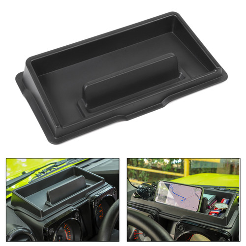Interior Dashboard Storage Box Organizer Holder For Suzuki Jimny 2019 2020 Black