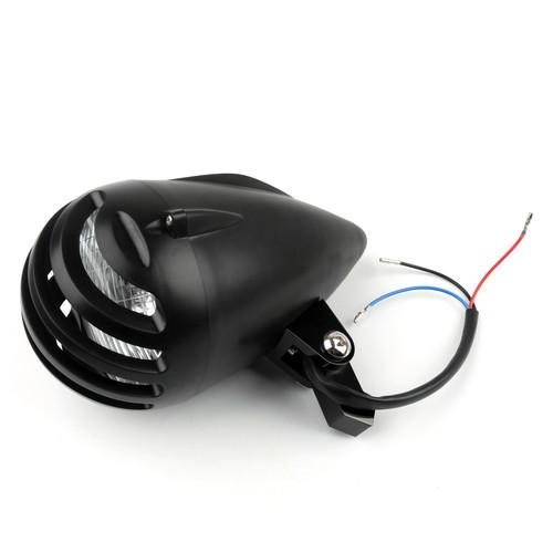 """Bullet Headlight Lamp 5 1/2"""" For Cafe Racer Bobber Chopper Custom Black"""