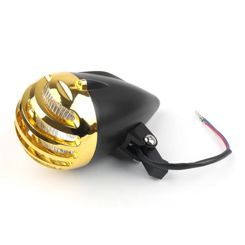 """Bullet Headlight Lamp 5 1/2"""" For Cafe Racer Bobber Chopper Custom BlackG"""