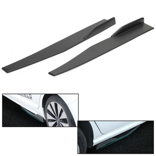74.5cm Pair Side Skirts Rocker Splitters Diffuser Winglet Wings Carbon Fiber