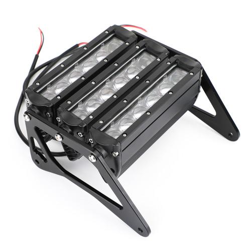 3 Row Spot LED Light Bar Headlight for Honda MSX125 Grom 13-15 MSX125SF Grom 16-19 Black