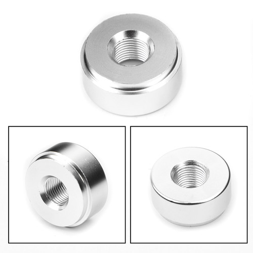 """1/8"""" NPT Female Aluminum Weld On Fitting Bung Silver"""
