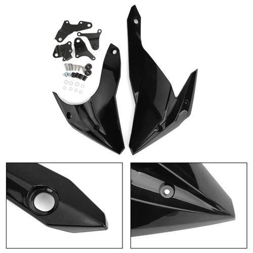 Engine Panel Belly Pan Lower Cowling Cover Fairing for Kawasaki Z400 2018-2020 GBLK