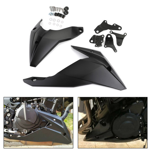 Engine Panel Belly Pan Lower Cowling Cover Fairing for Kawasaki Z400 2018-2020 MBLK